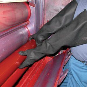 Large Black Rubber Gloves